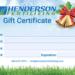 Henderson Fertilizing Gift Certificate