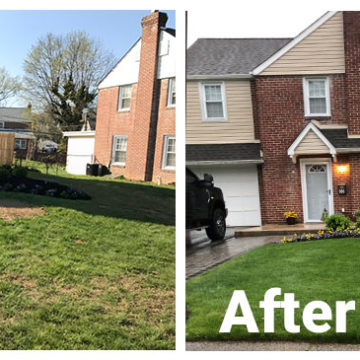 before after lawn care