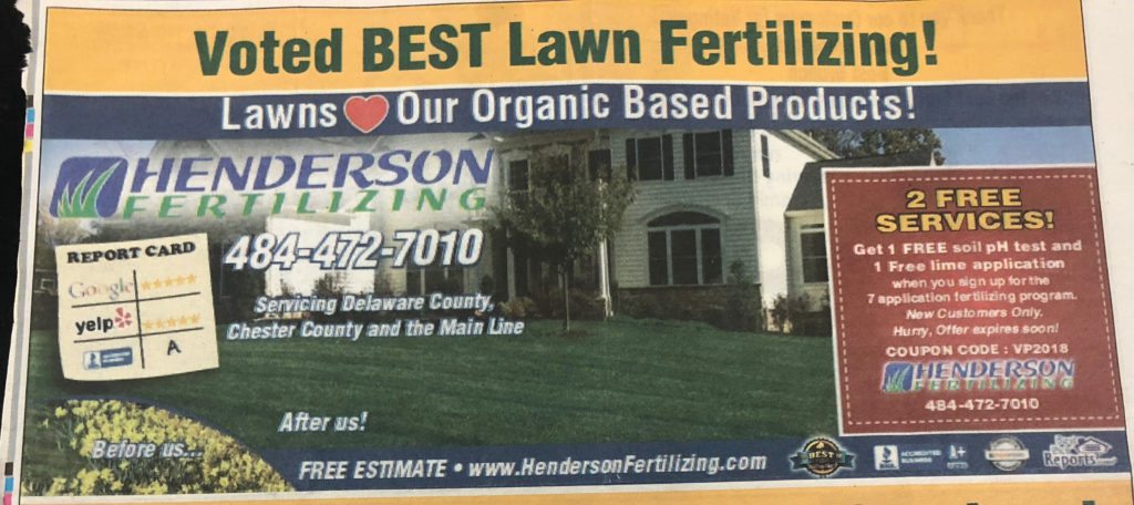 Henderson Fertilizing in Best of Delco